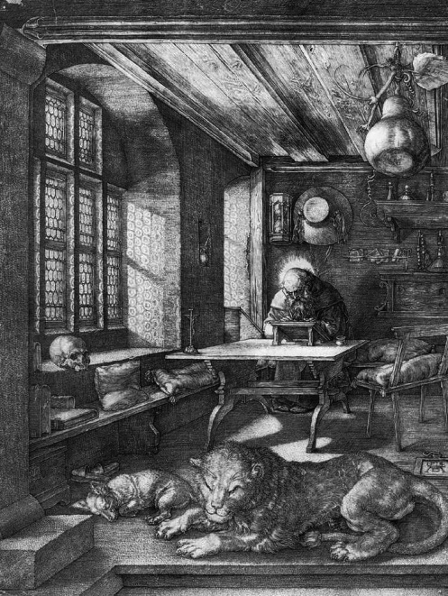 St. Jerome in his study, by Albrecht Dürer