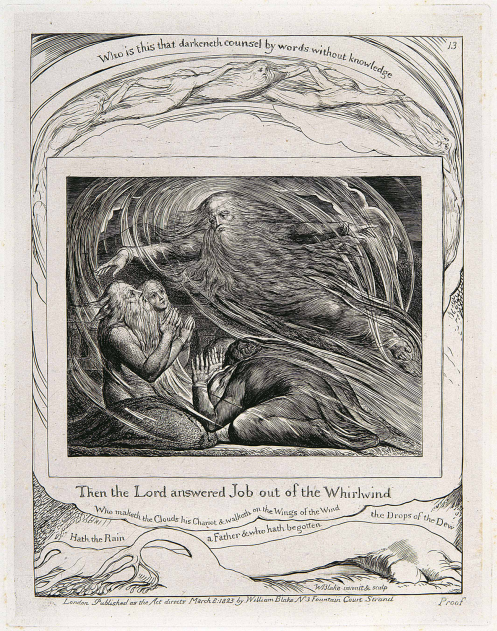 The Lord answering Job, William Blake