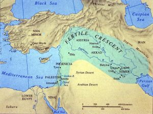 Map of ancient near east, University of Texas