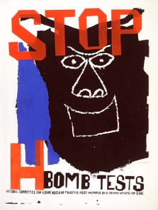 """Stop H-Bomb Tests"" Ben Shahn, 1960. From Greg Cook's blog, ""The New England Journal of Aesthetic Research"""