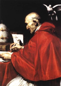 Pope Gregory as imagined by Saraceni in 1610.