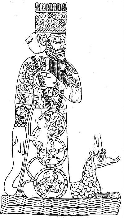 Marduk and the dragon Tiamat
